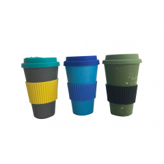 Fashion green  bamboo fibre coffee cup