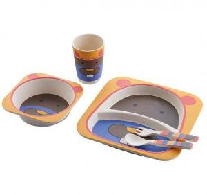 Eco friendly baby bamboo tableware set