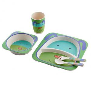 kids bamboo plate cup