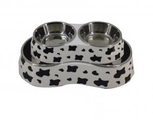 Covered Bamboo Dog Bowl