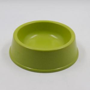 green bamboo fiber dog bowl